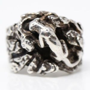 Jewelry - CHUNKY Sterling 3D Panther Statement Ring 7.5